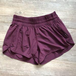 Lululemon Plum Tracker Shorts
